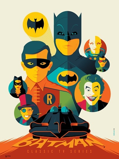 Batman screen print by Tom Whalen