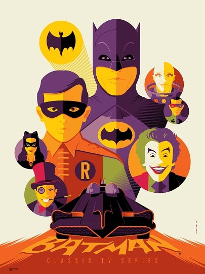 Batman variant screen print by Tom Whalen