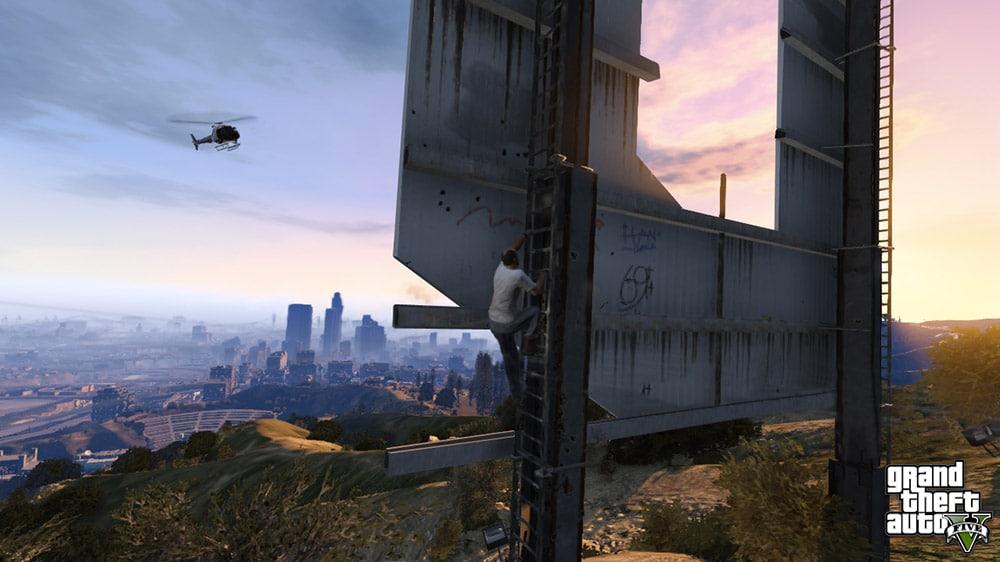 GTA 5 Sign Climbing