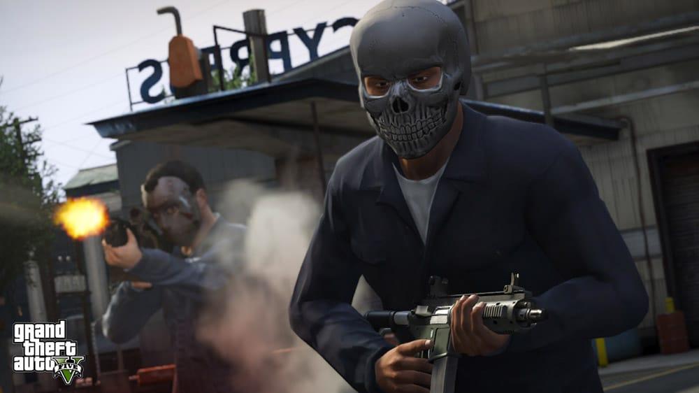 GTA 5 Robbery Scene