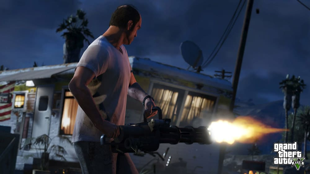 Grand Theft Auto 5 Machine Gun Screenshot