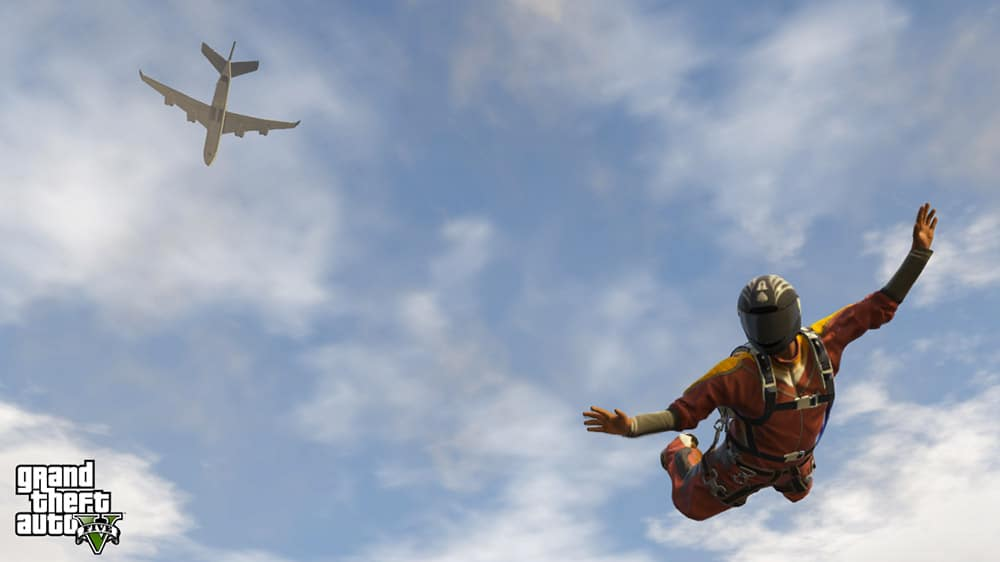 Grand Theft Auto 5 Sky Diving Screenshot