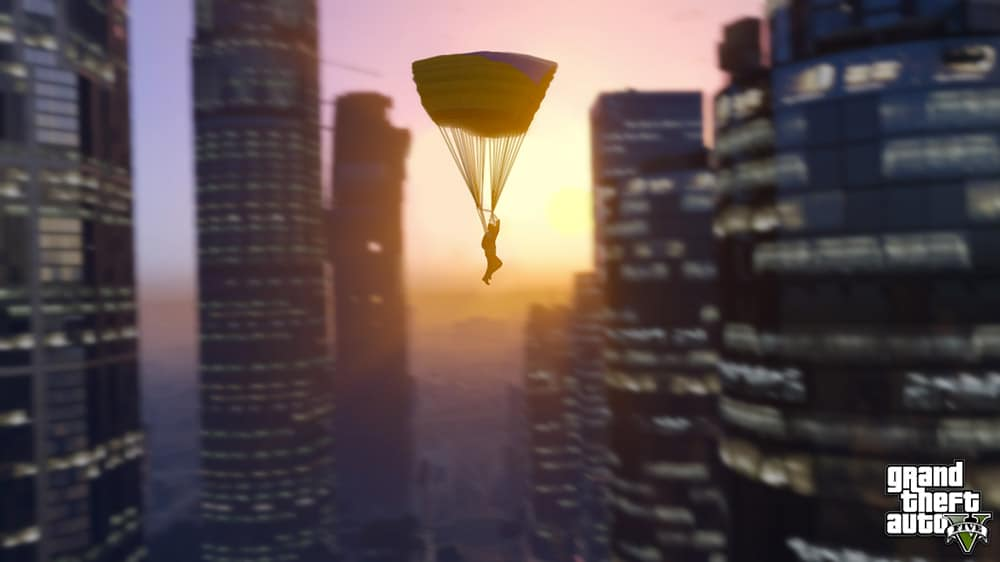 Grand Theft Auto 5 Parachute Screenshot