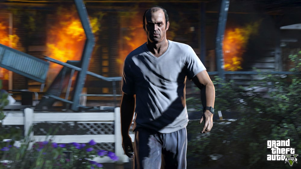 Grand Theft Auto 5 Explosion Screenshot