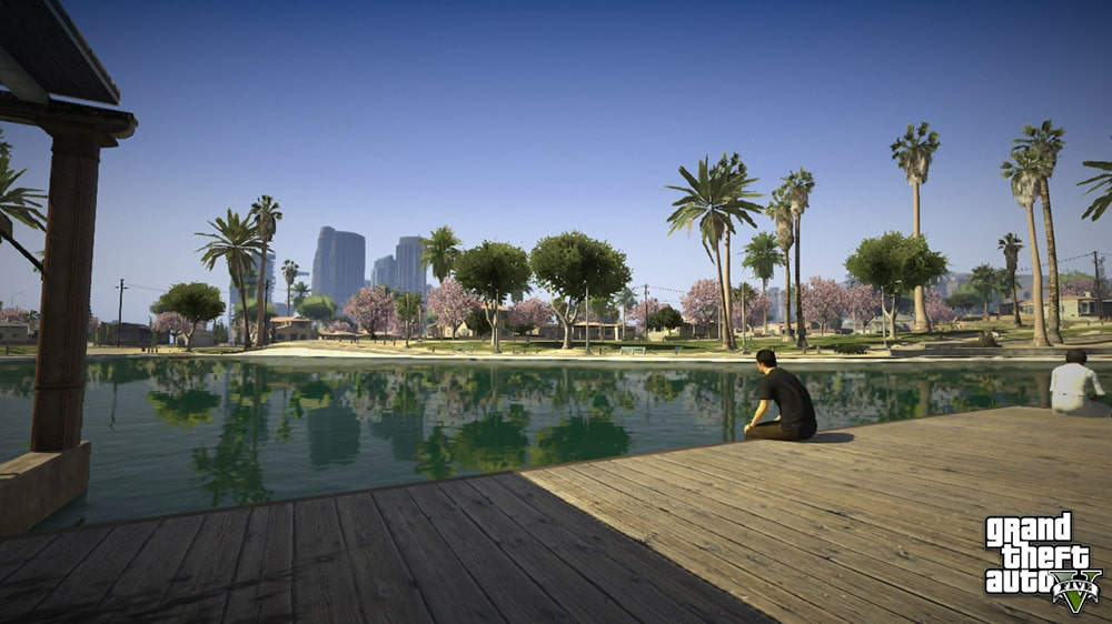 Grand Theft Auto 5 Pool Screenshot