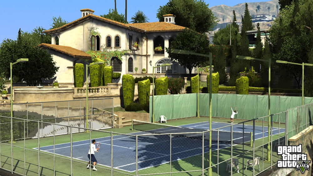 Grand Theft Auto 5 Tennis Game Screenshot