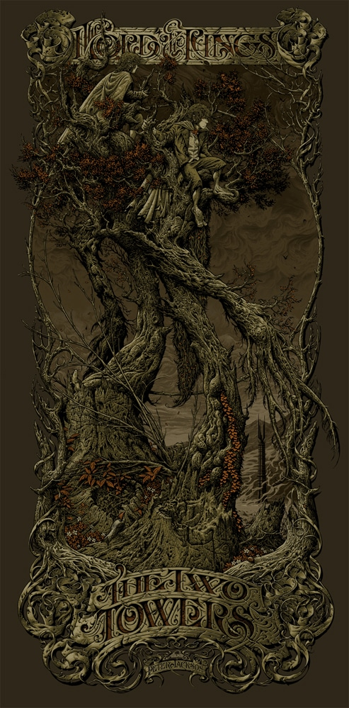 L.O.T.R. Two Towers Variant by Aaron Horkey