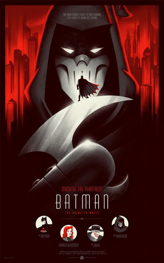 Batman Mask of the Phantasm Movie Poster Print