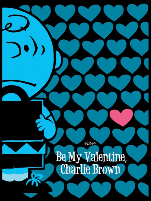 Charlie Brown Valentine Variant Print