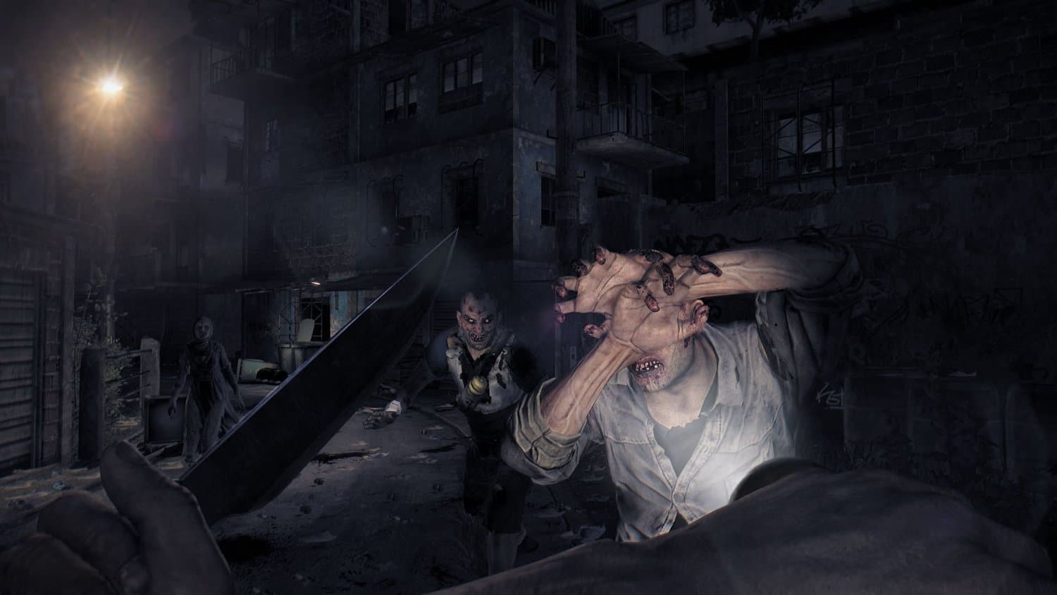 Dying Light Nighttime Action Shot