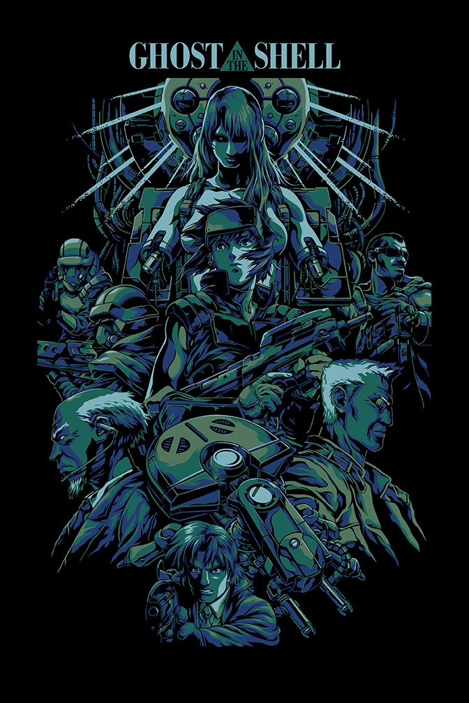 Ghost In The Shell Movie Poster Missed Prints