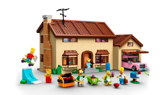 Lego Simpsons House and Characters