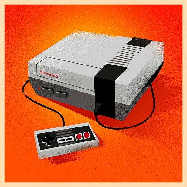 NES Video Game Console Print