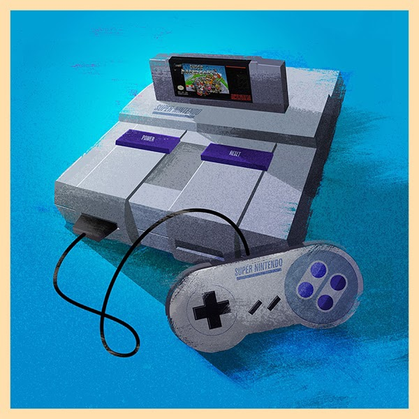 SNES Video Game Console Print