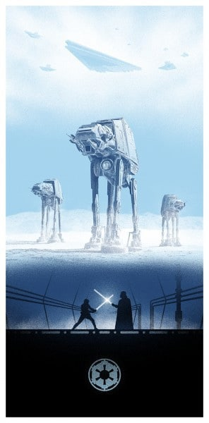 Empire Strikes Back Movie Poster by Marko Manev