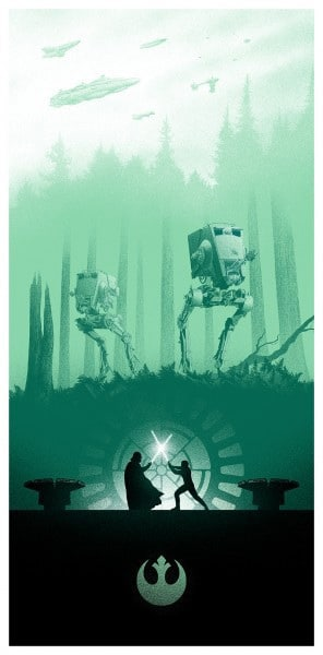 Return of the Jedi Movie Poster by Marko Manev