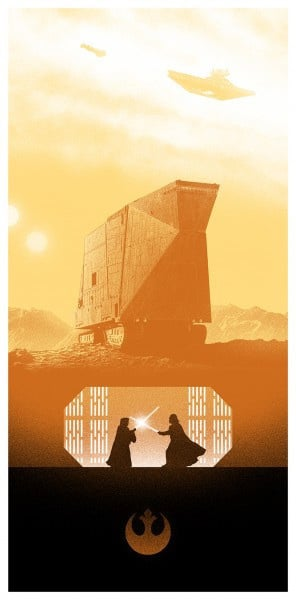 Star Wars Movie Poster by Marko Manev