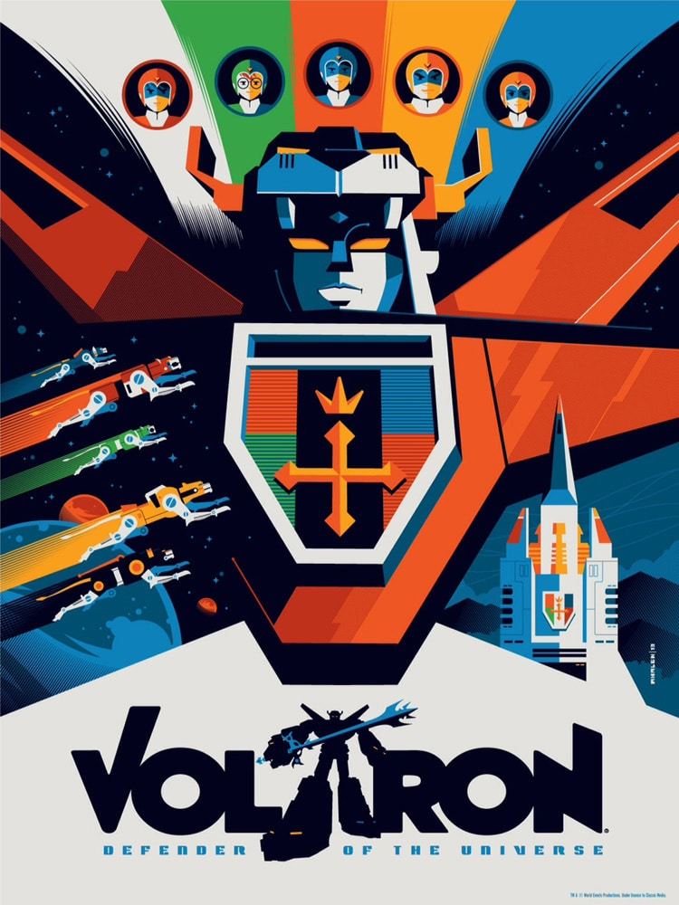 Voltron Print by Tom Whalen