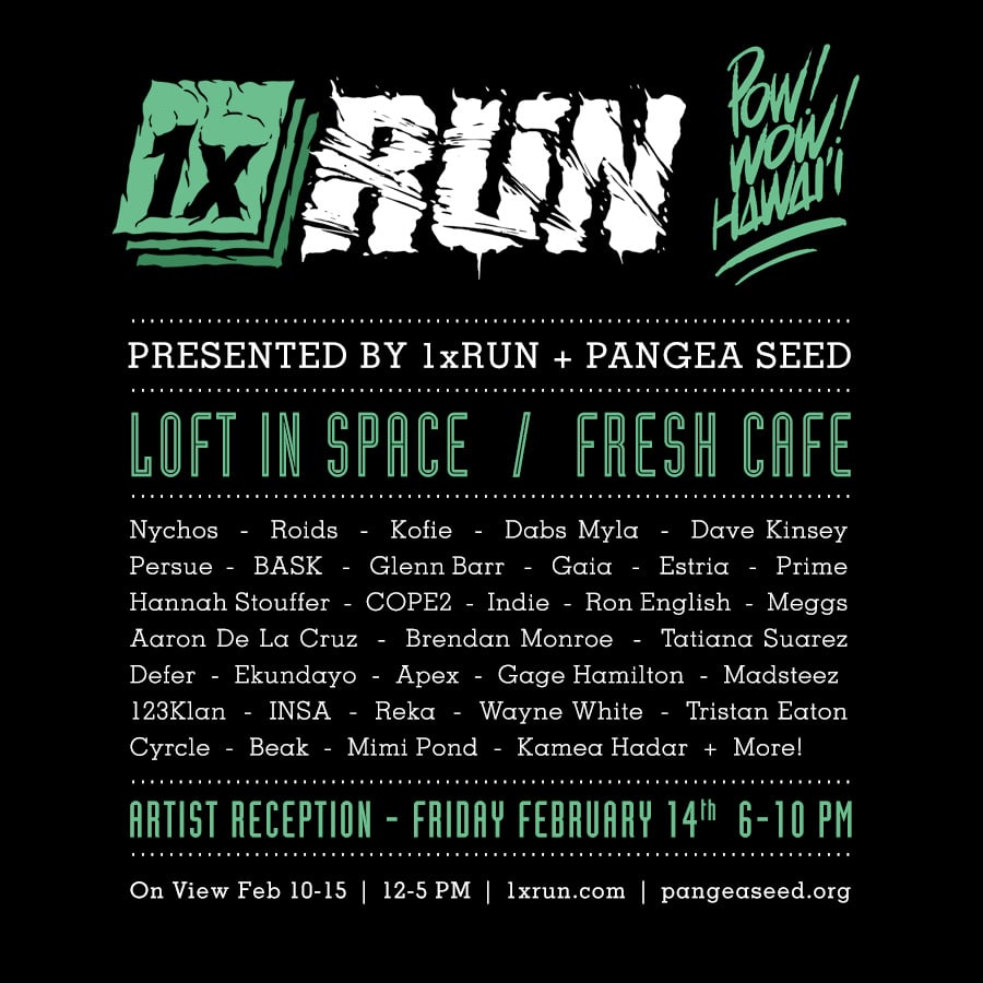 1xRun Pow Wow Art Show Flyer