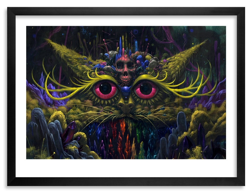 Cat Goddess Print by Jeff Soto