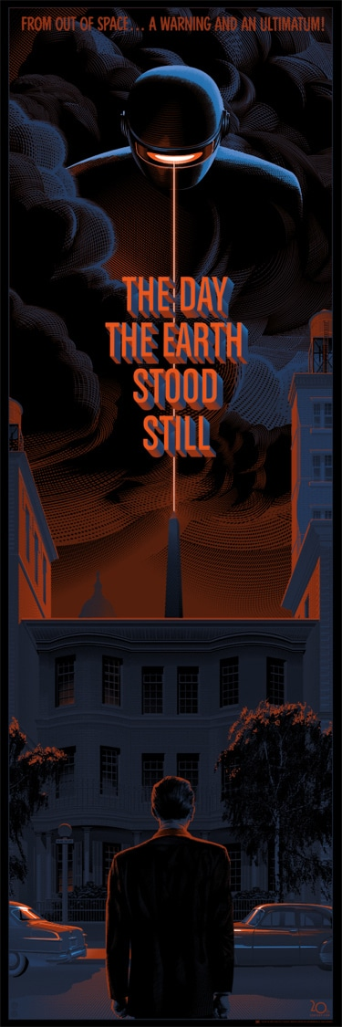 The Day the Earth Stood Still Movie Poster by Laurent Durieux