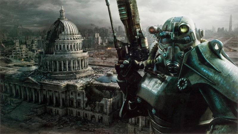 Fallout Capitol Metal Print Full