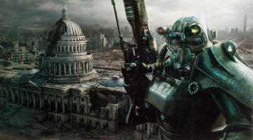 Fallout Capitol Metal Print