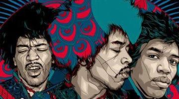 Jimi Hendrix Print by Tyler Stout