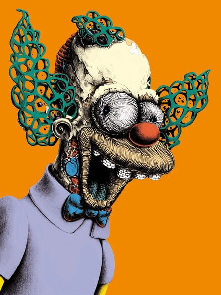 Krusty the Clown Print