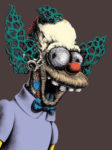 Krusty the Clown Print Dark