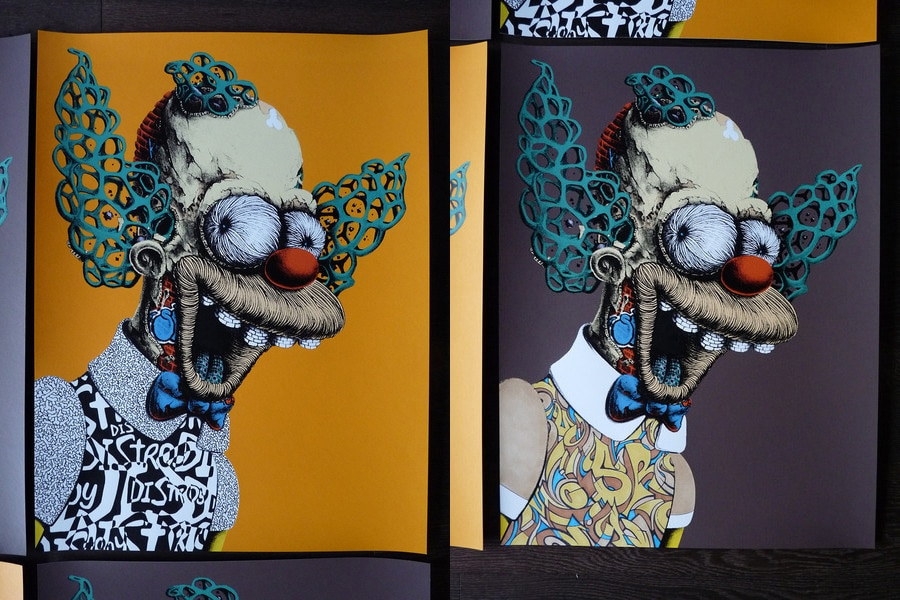 Krusty the Clown Print Variants Set 1