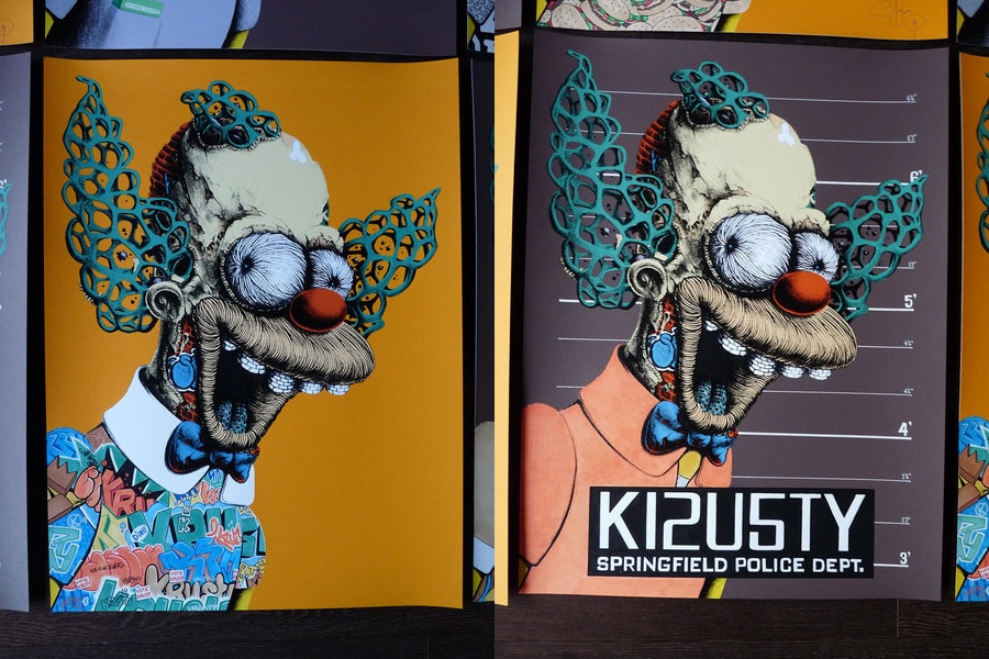 Krusty the Clown Print Variants Set 3