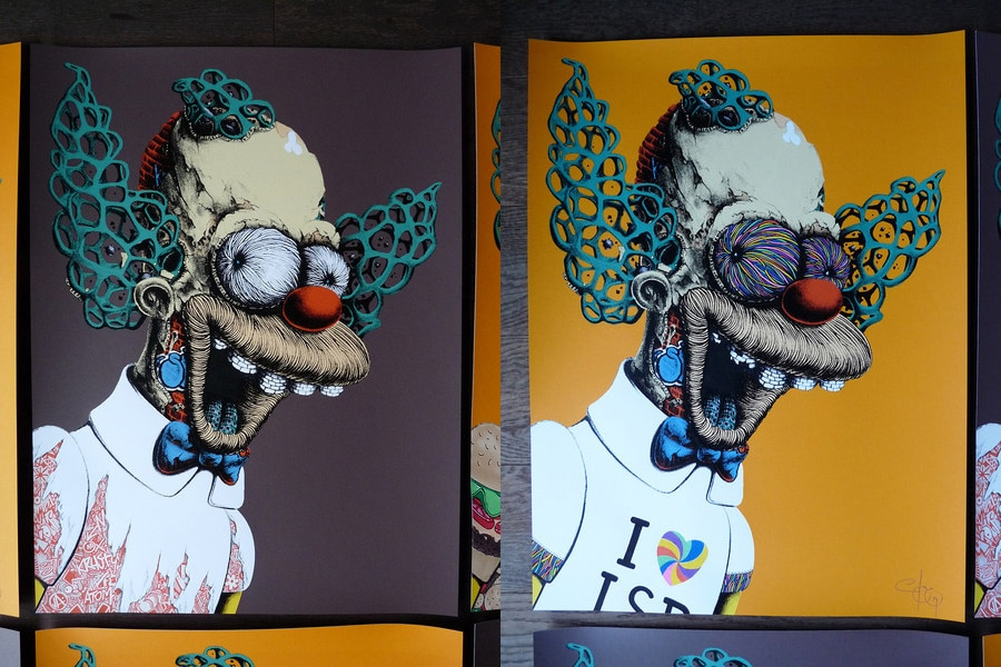 Krusty the Clown Print Variants Set 4