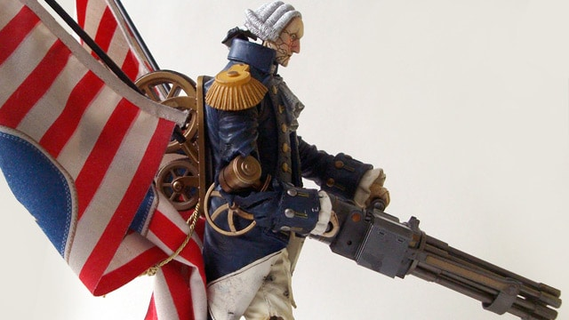 Motorized Patriot Figure Side View