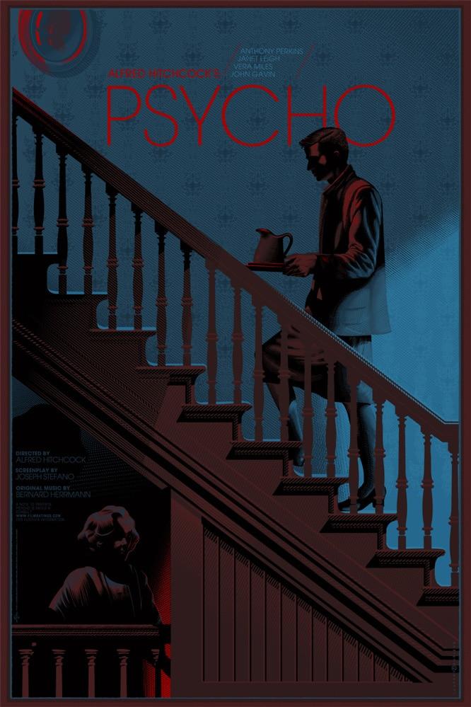 Hitchcock Psycho Poster Print