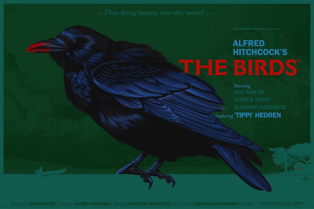 Hitchcock Birds Poster Print