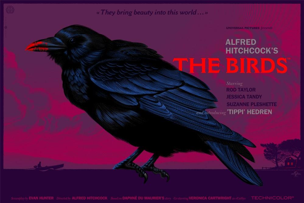 Hitchcock Birds Poster Variant
