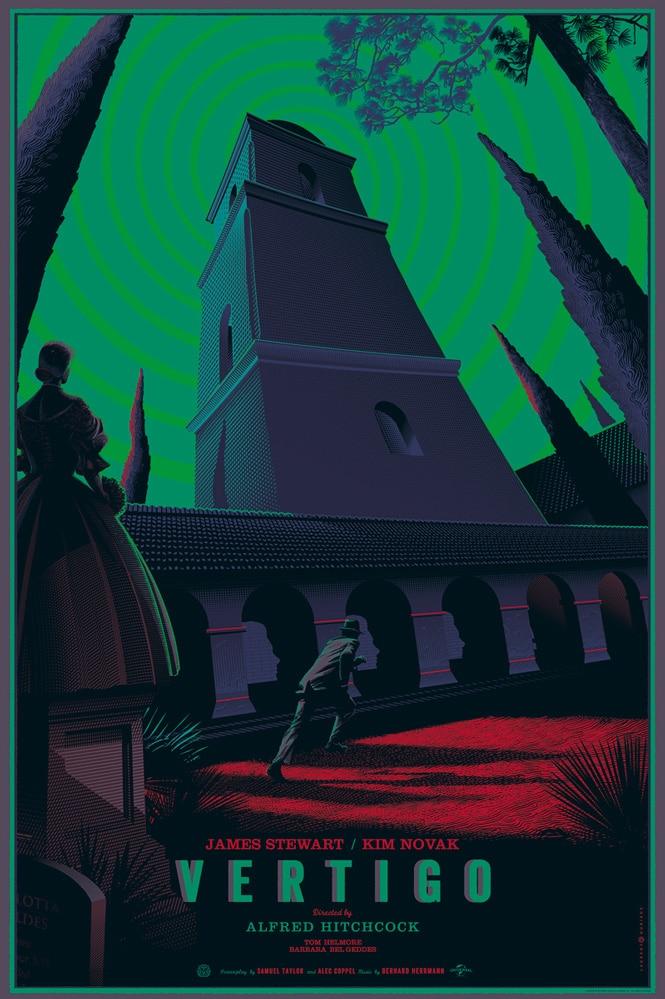 Hitchcock Vertigo Poster Print Variant