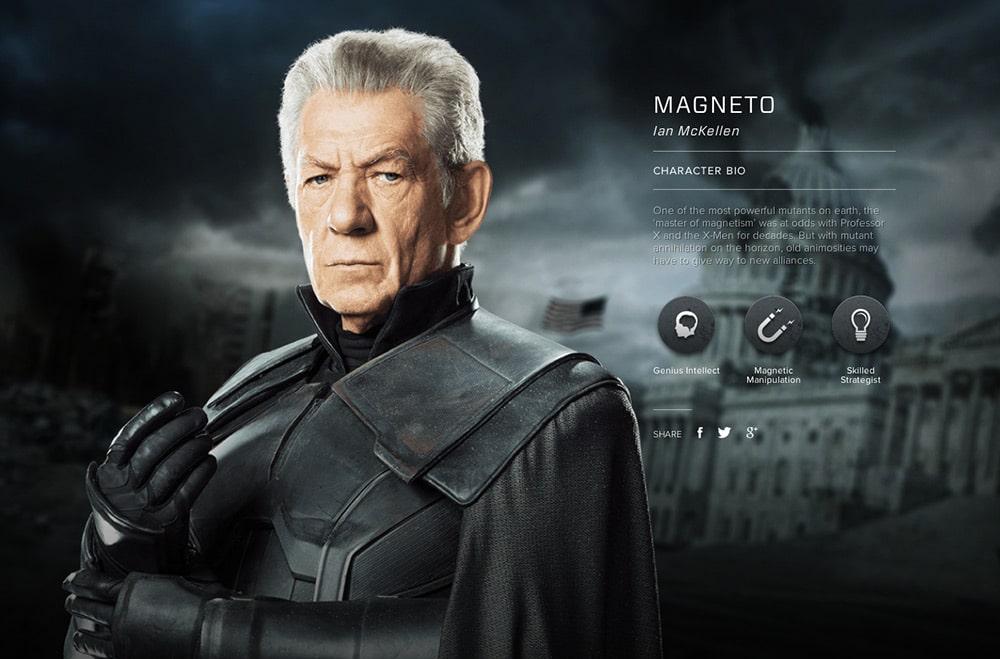 X-Men Days of Future Past Website Profiles