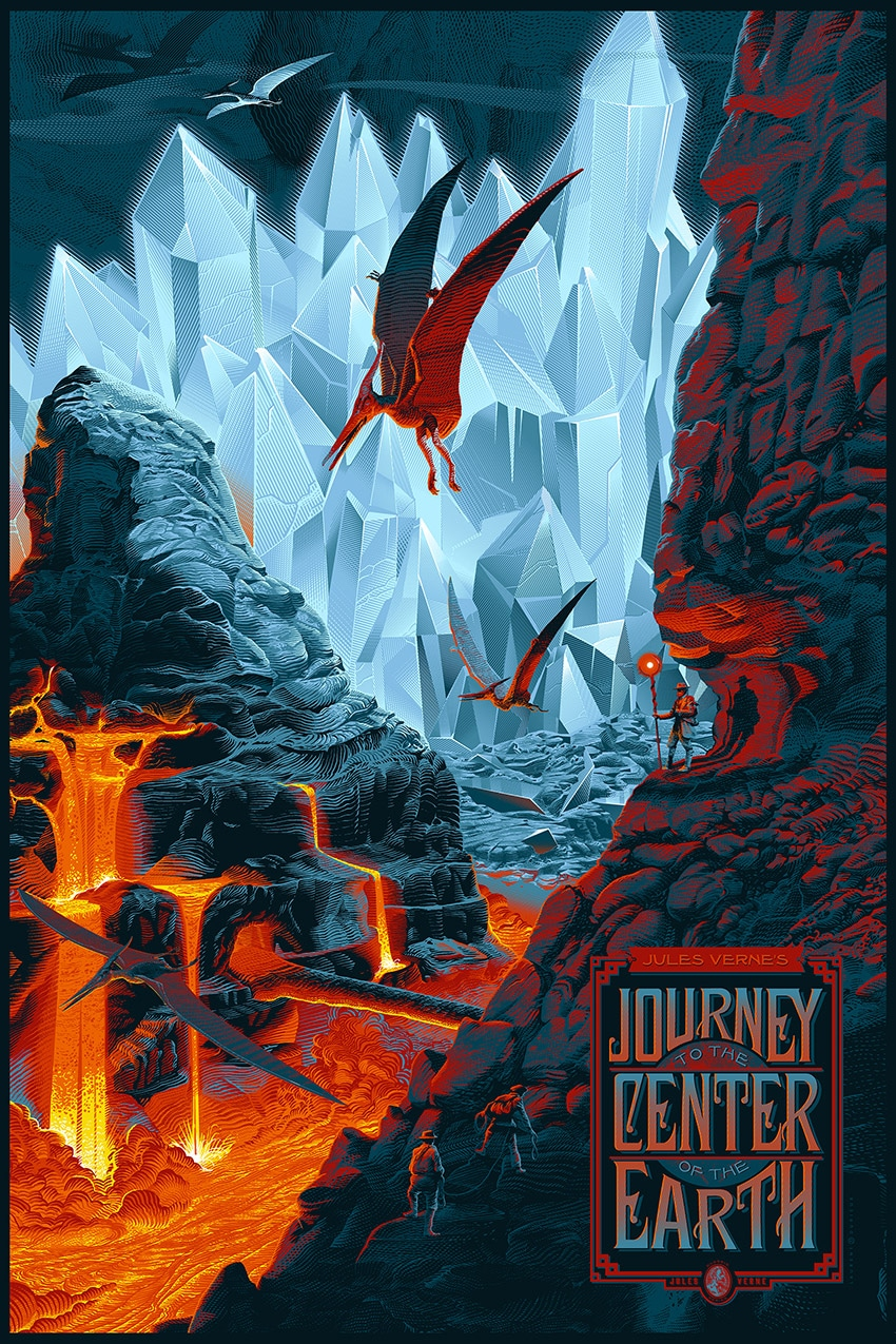 Journey to the Center of the Earth Variant Poster