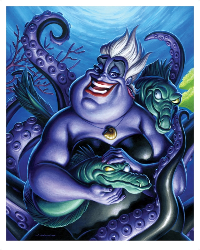 Ursula Little Mermaid Portrait Print