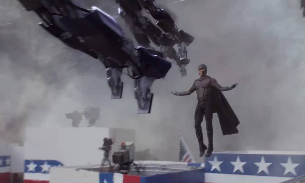 Magneto and Sentinels from the X-Men Movie