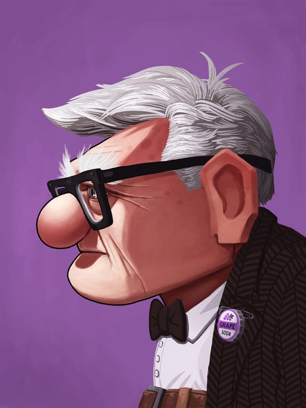 Carl from Up Portrait Print