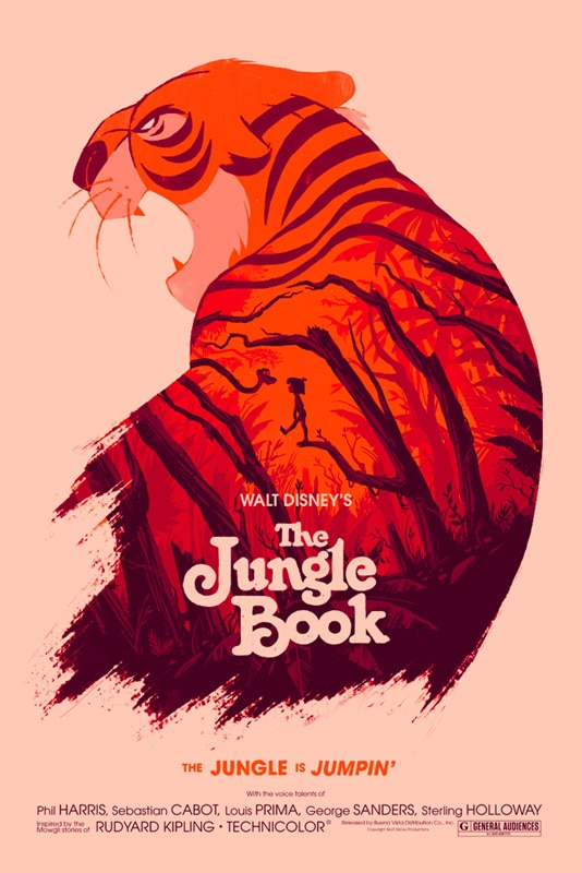 The Jungle Book Print by Olly Moss