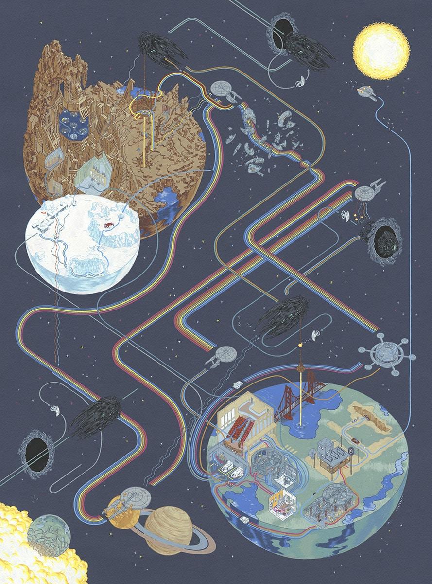 Paths of Trek Print