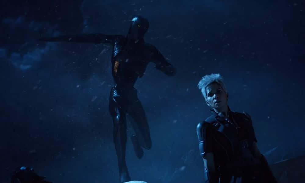 Sentinel and Storm from X-Men Movie