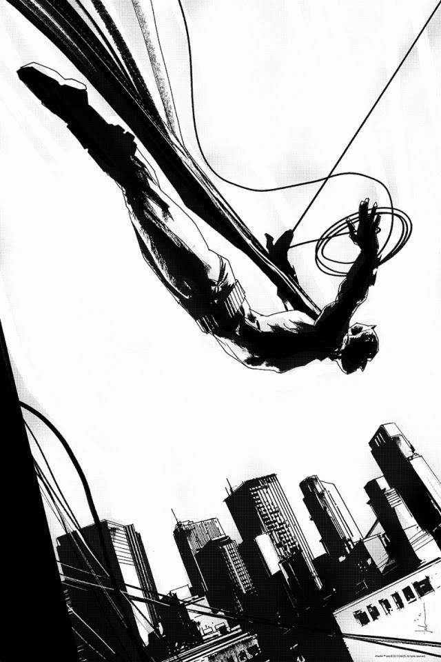 Batman: The Black Mirror Print by Jock BW