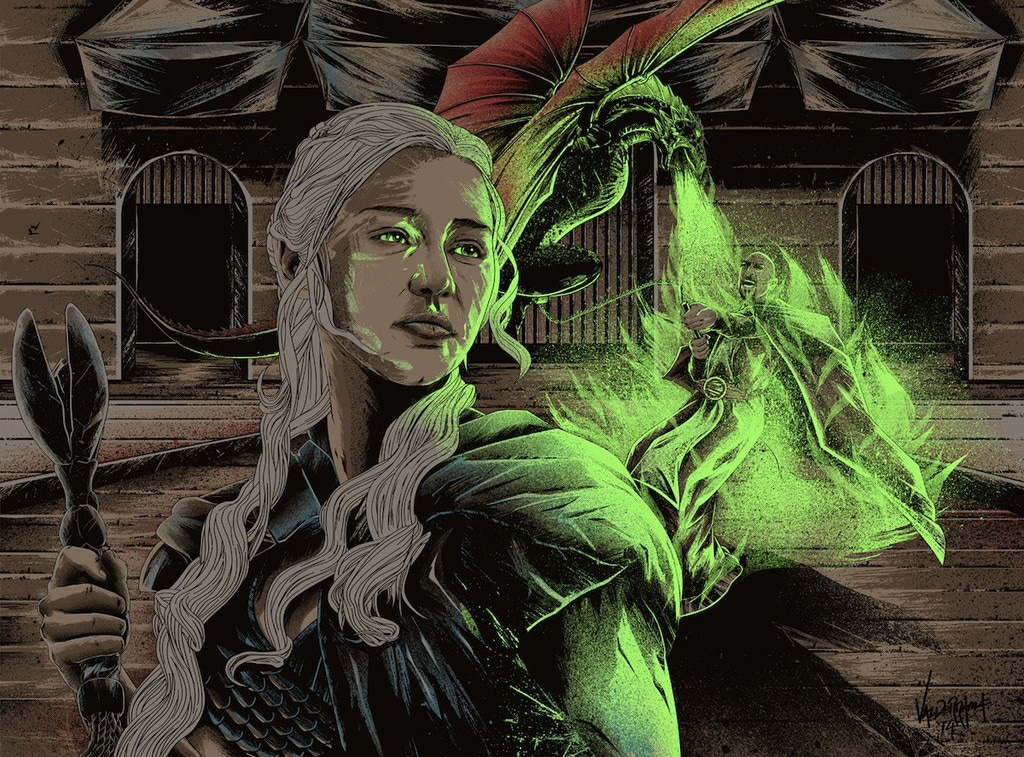 Dracarys Game of Thrones Print Glow in the Dark