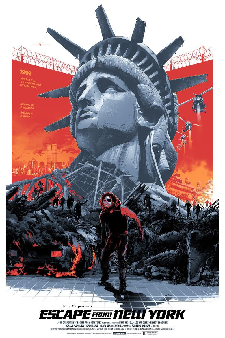 Escape from New York Movie Poster by Gabz