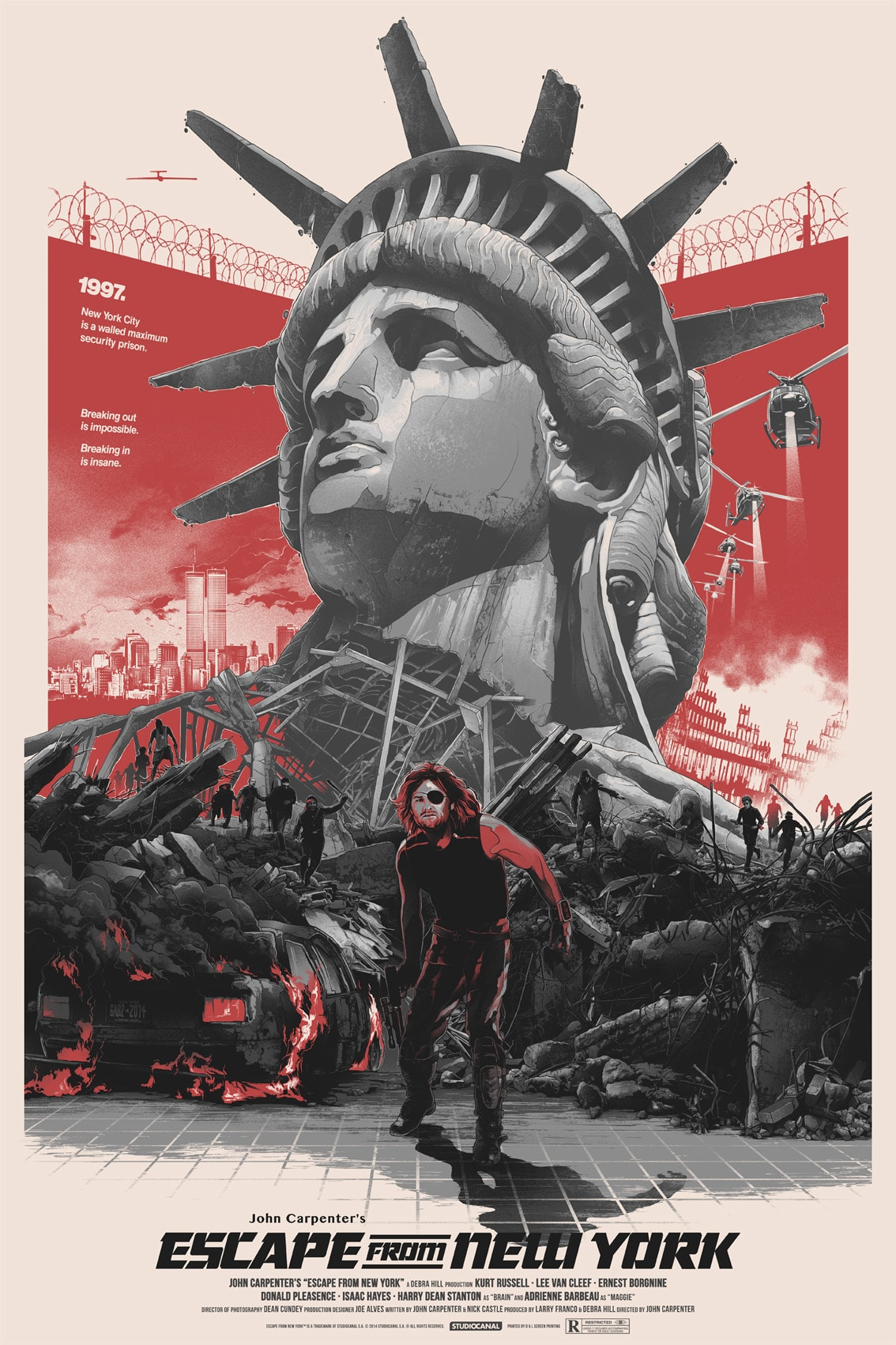 Escape from New York Variant Movie Poster by Gabz
